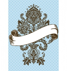vector Victorian ornament and scroll vector image