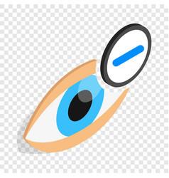 Vision myopia isometric icon vector