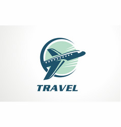 voyage vacation tour logo designs vector image