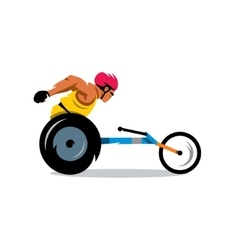 Wheelchair Racing Cartoon vector