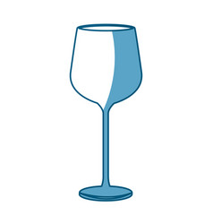 Wine glass cup drink liquid shadow vector