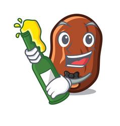 With beer dates fruit mascot cartoon vector