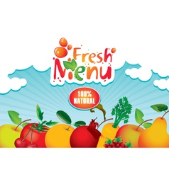 juices and fresh vector image vector image