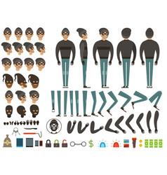 mascot or character design of bandit vector image