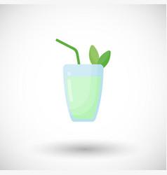 mojito cocktail flat icon vector image vector image