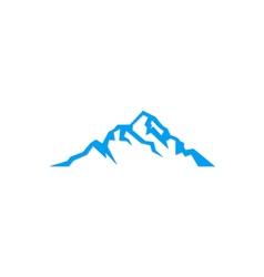 mountain sign logo vector image vector image