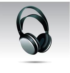 realistic headphones vector image vector image