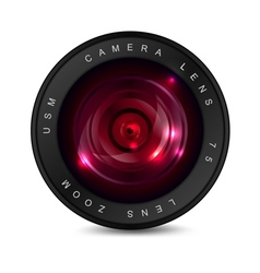 Red lens vector