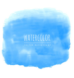 blue watercolor ink effect real stain background vector image vector image