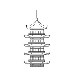 castle japanese building icon vector image