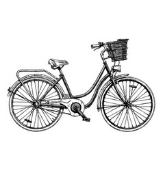 european city bike vector image vector image
