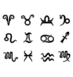 Horoscope zodiac signsicons vector image