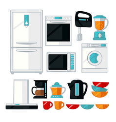 kitchenware and kitchen equipment assortment vector image