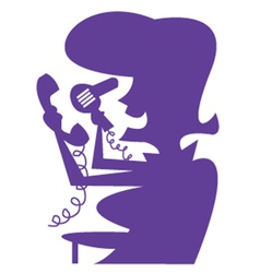 Lady with hairdryer silhouette vector image vector image