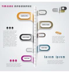 Modern timeline infographics design vector image vector image