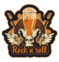 Rock n toll and beer vector image