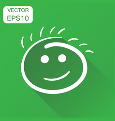 simple smile icon business concept hand drawn vector image