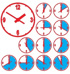 Wall mounted digital clock vector image