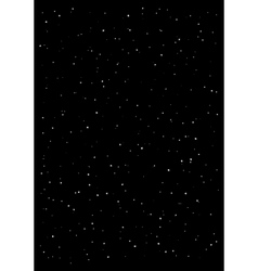 Clusters of star in the dark sky Black background vector image