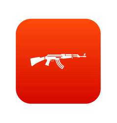 military rifle icon digital red vector image vector image