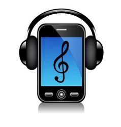 Mobile phone with headphones vector image vector image
