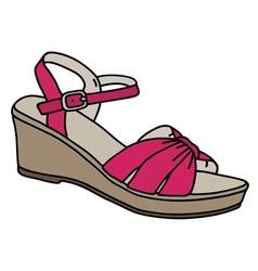Purple womans sandal vector image vector image
