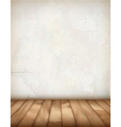 White Plaster Wall Wood Floor vector image