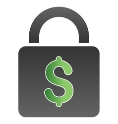 Bank Lock Gradient Icon vector image