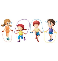 Children and jumprope vector image