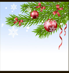 christmas ball and fir tree vector image