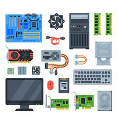 computer accessories pc equipment vector image