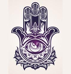 hand drawn ornate amulet hamsa vector image vector image