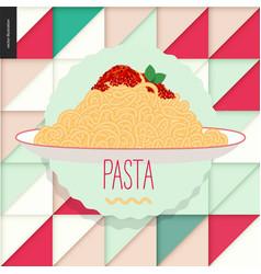 italian restaurant set vector image