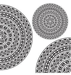 Monochromatic ethnic textures vector image vector image