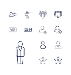 13 member icons vector