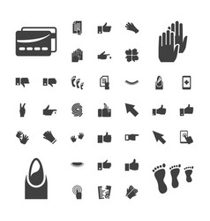 37 finger icons vector image