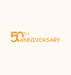 50 anniversary logo concept 50th years birthday vector image