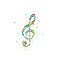 abstract treble clef vector image