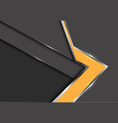 abstract yellow arrow gray metal shadow design vector image