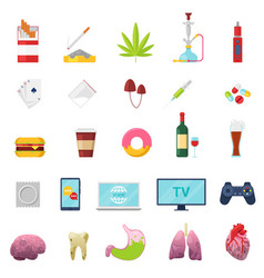 addiction addicted and bad habit smoking vector image