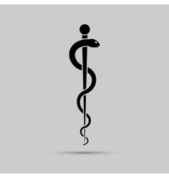Aesculapius medical symbol or symbol featuring a vector
