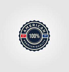 american premium guaranteed badges logo design vector image