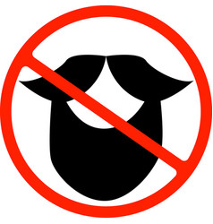 An isolated forbidden signal with a moustache vector