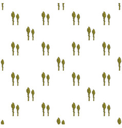 asparagus hand drawn on white background hand vector image