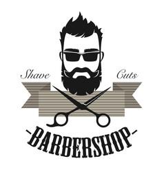 barber shop vintage classic label badge emblem vector image