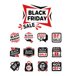 black friday banner icon vector image