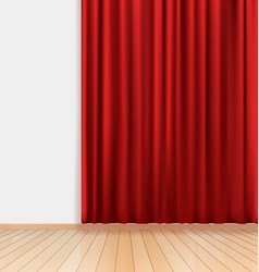 Blank room background vector