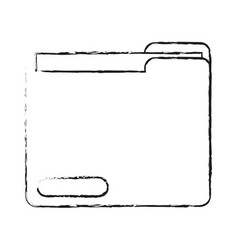 blurred silhouette documents in folder vector image