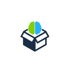 brain box logo icon design vector image