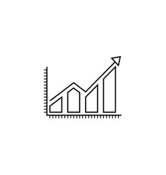 business growing graph line icon infographic vector image